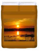 Sunset Walk In The Water Duvet Cover
