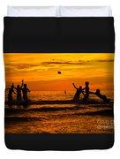 Sunset Water Football Duvet Cover