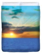 Sunset Waters Duvet Cover