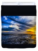 Sunset With Blue Sky Duvet Cover
