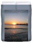 Fishingpier Sunset Duvet Cover