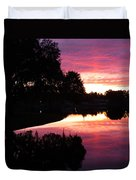 Sunset With Reflection Duvet Cover