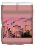 Sunsets On Houses Duvet Cover