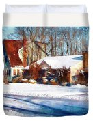 Sunshine After The Snow Duvet Cover