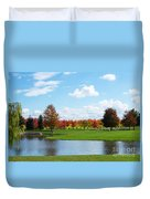 Sunshine On A Country Estate Duvet Cover