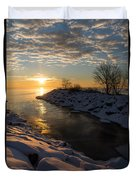 Sunshine On The Ice - Lake Ontario Toronto Canada Duvet Cover
