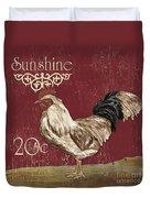 Sunshine Rooster Duvet Cover