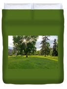 Sunshine Through The Trees Duvet Cover