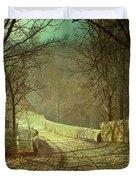 Sunshine Through Winter Trees Duvet Cover