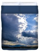 Sunshines In Blackness Duvet Cover