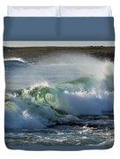 Super Wave At The Barents Sea Coast Duvet Cover