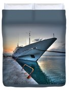 Super Yacht At Nafplion  Duvet Cover