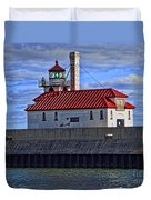 Superior And Duluth Harbor Lighthouse Duvet Cover