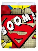 Superman Boom  Duvet Cover