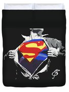 Superman Duvet Cover by Erik Pinto