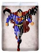 Superman - Man Of Steel Duvet Cover by Ayse Deniz