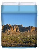 Superstition Mountain In The Evening Sun Duvet Cover