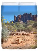 Superstition Mountains Duvet Cover