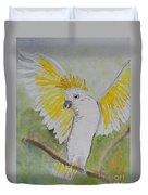 Suphar Crested Cockatoo Duvet Cover