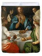 Supper At Emmaus Duvet Cover