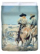 Supply Wagons Duvet Cover by Newell Convers Wyeth