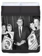 Supporters Greet Kennedy Duvet Cover