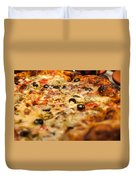 Supreme Meat Works Pizza  Sliced And Ready To Eat Duvet Cover