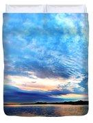 Sureal Pewaukee Lake Sunrise Duvet Cover