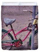 Surf Bike Duvet Cover