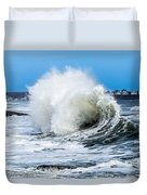 Surf Is Up At York Beach Duvet Cover