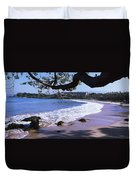 Surf On The Beach, Mauna Kea, Hawaii Duvet Cover
