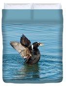 Surf Scotter Male Wings Duvet Cover