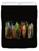 Surfboard Fence 4 Duvet Cover by Bob Christopher