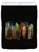 Surfboard Fence 4 Duvet Cover