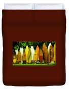 Surfboard Fence Hawaii 1 Duvet Cover