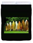 Surfboard Fence Maui Duvet Cover