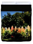 Surfboard Fence - Right Side Duvet Cover