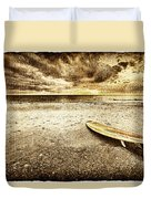 Surfboard On The Beach 2 Duvet Cover