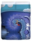 Surfer Boy - Ride The Waves Duvet Cover