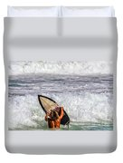 Surfer Catch The Wave Duvet Cover