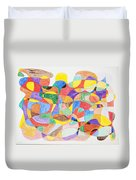 Abstract Dance Party  Duvet Cover