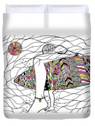 Surfer Girl Duvet Cover by Susan Claire