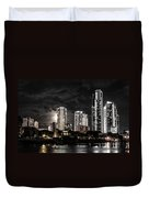 Surfers Paradise By Night Duvet Cover