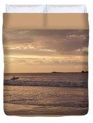 Surfing At Dusk Duvet Cover