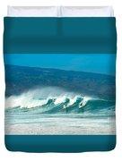Surfing Duel Duvet Cover