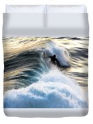 Surfing For Gold Duvet Cover