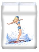 Surfing Girl Duvet Cover