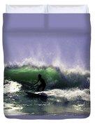 Surfing Pt. Judith Duvet Cover