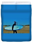 Surfing Santa Cape Hatteras Lighthouse 3 12/19 Duvet Cover