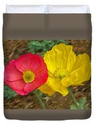 Surprised Poppies Duvet Cover